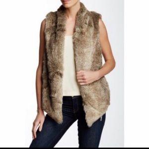 Tart Collections faux fur vest size large